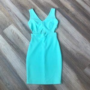 Dresses & Skirts - Midi cut-out Teal Dress